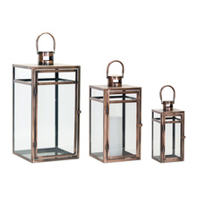 "More about the 'Lantern (Set of 3) 11.75""H, 16""H, 20.5""H Metal/Glass' product"