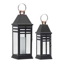 "More about the 'Lantern (Set of 2) 16.25""H, 20.5""H Metal/Glass' product"