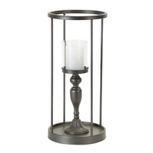 "More about the 'Candle Holder 9.25""W x 19.75""H Iron/Glass' product"