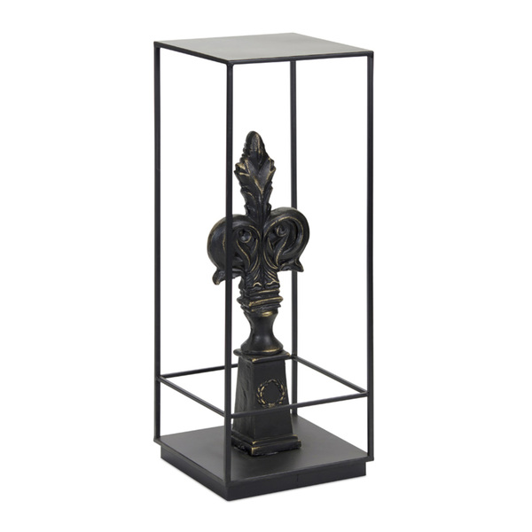 "Finial Plant Stand 11.75"" x 32.25""H Iron/Resin"