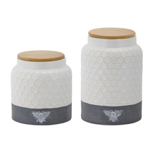 "More about the 'Canister (Set of 2) 6""H, 8""H Ceramic' product"