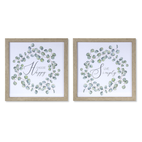 "Simply/Happy Frame (Set of 4) 9.5"" x 9.5""H Plastic/MDF"