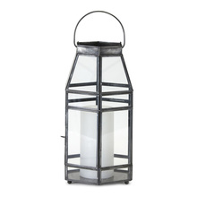"More about the 'Lantern 6"" x 12""H Glass/Iron' product"