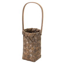 "More about the 'Basket With Handle (Set of 4) 5"" x 8""H Wood' product"