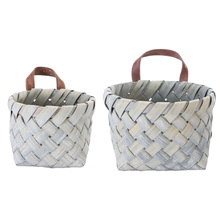 "More about the 'Basket (Set of 8) 7"" x 5""H, 9"" x 6""H Wood' product"