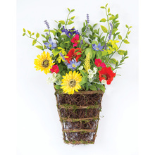 "More about the 'Sunflower/Poppy Wall Basket (Set of 2) 14"" x 20.5""H Polyester/Plastic' product"