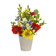 "More about the 'Sunflower/Poppy Pot (Set of 2) 8"" x 13""H Polyester/Plastic' product"