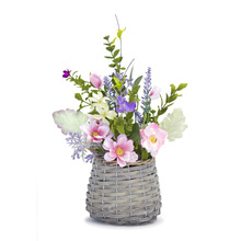 "More about the 'Mixed Floral Basket (Set of 2) 11"" x 14""H Polyester/Plastic' product"