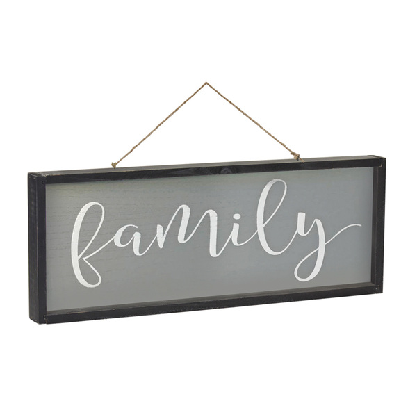 "Blessed/Family Frame 25"" x 9.25""H MDF/Wood"