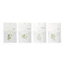 "More about the 'Herb Wall Pocket (Set of 4) 5.25"" x 8.5""H Ceramic' product"