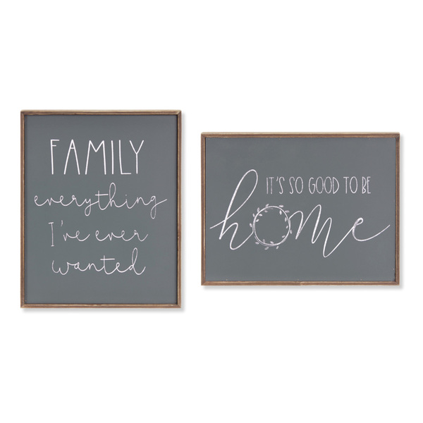 "Family/Home Frame (Set of 4) 12.5""H, 10""H Wood/MDF"