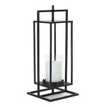 "More about the 'Lantern 7"" x 16.75""H Iron/Glass' product"