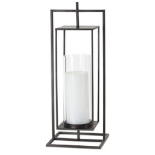 "More about the 'Lantern 9.25"" x 24""H Iron/Glass' product"
