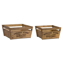 "More about the 'Crate (Set of 2) 16.75"" x 8.75""H, 19"" x 9.25""H Wood' product"