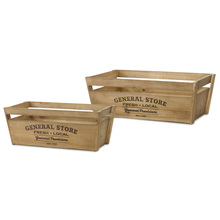"More about the 'Crate (Set of 2) 23.25"" x 8.75""H, 26.5"" x 9.25""H Wood' product"