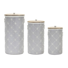 "More about the 'Canister (Set of 3) 14""H, 17""H, 20.25""H Iron/Wood' product"
