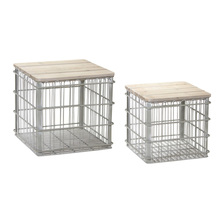 "More about the 'Crate With Lid (Set of 2) 16""H, 19""H Iron/Wood' product"