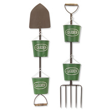 "More about the 'Garden Tool With Pots (Set of 2) 7.5"" x 36.5""H Iron' product"