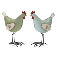 "More about the 'Chicken (Set of 4) 7.25""H Resin/Stone Powder' product"
