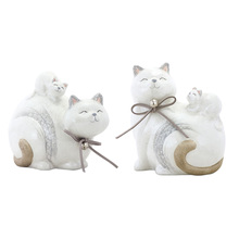 "More about the 'Cat (Set of 8) 4.5""H, 5""H Terra Cotta' product"
