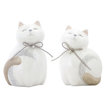 "More about the 'Cat (Set of 4) 7""H, 7.5""H Terra Cotta' product"