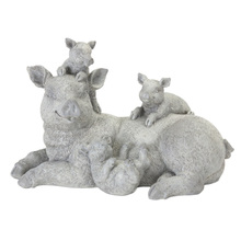 "More about the 'Pig Family (Set of 2) 6.5""H Resin/Stone Powder' product"