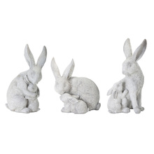 "More about the 'Rabbit With Bunny (Set of 6) 4.5""H, 5.5""H, 6""H Resin/Stone Powder' product"