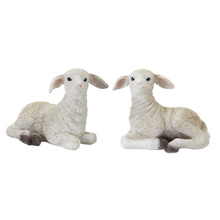 "More about the 'Lamb (Set of 2) 8"" x 6.5""H Resin/Stone Powder' product"