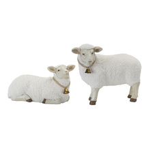 "More about the 'Lamb (Set of 2) 17"" x 9.5""H, 19"" x 15""H Stone Powder' product"