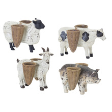 "More about the 'Farm Animal (Set of 4) 4.25""H - 5.75""H Resin/Stone Powder' product"