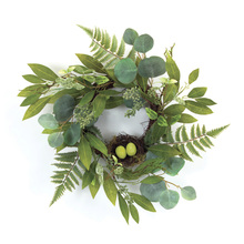 "More about the 'Mixed Foliage W/Nest Wreath 21""D Polyester' product"