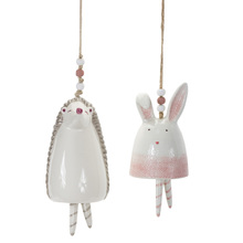 "More about the 'Bunny/Hedgehog Bell (Set of 4) 4.75""H, 7""H Stoneware' product"