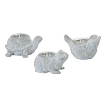 "More about the 'Animal Tea Light Holder (Set of 6) 3""H, 3.5""H, 4""H Resin/Stone Powder' product"
