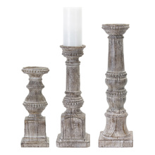 "More about the 'Candle Holder (Set of 3) 12""H, 16""H, 19""H Resin/Stone Powder' product"