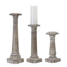 "More about the 'Candle Holder (Set of 3) 11""H, 16""H, 21""H Resin/Stone Powder' product"