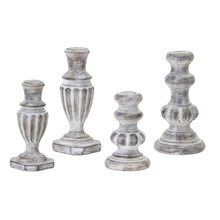 "More about the 'Candle Holder (Set of 4) 5.75""H, 6.5""H, 7.5""H, 7.5""H Resin/Stone Powder' product"