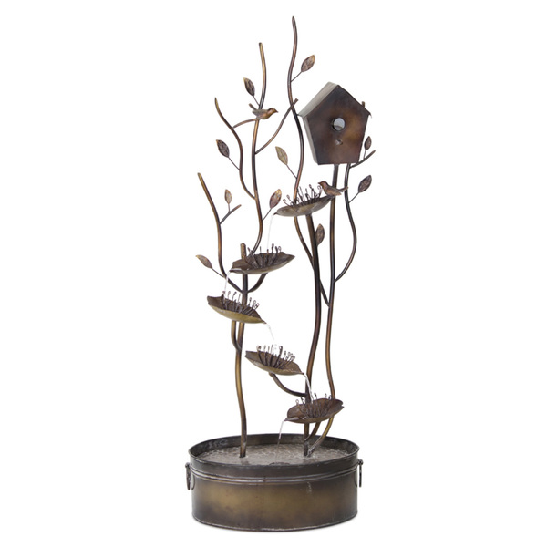 "Bird House Fountain 19""Wx 52.25""H Iron"