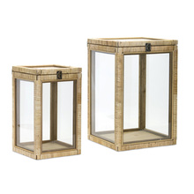 "More about the 'Box (Set of 2) 14.75""H, 17.75""H Wood/Glass' product"