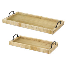 "More about the 'Tray (Set of 2) 20""L, 45.5""L Wood/Rattan' product"