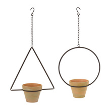 "More about the 'Hanging Pot (Set of 4) 25""H, 25.75""H Iron/Terra Cotta' product"