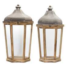 "More about the 'Lantern (Set of 2) 28.5""H, 33""H Iron/Wood' product"