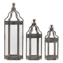 "More about the 'Lantern (Set of 3) 19.5""H, 25""H, 36""H Wood/Iron' product"