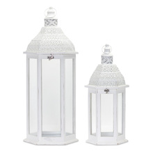 "More about the 'Lantern (Set of 2) 21""H, 31""H Iron/Wood' product"