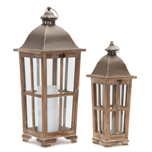 "More about the 'Lantern (Set of 2) 19""H, 25.75""H Iron/Wood' product"