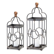 "More about the 'Candle Holder (Set of 2) 20.5""H, 25.25""H Iron/Glass' product"