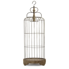 "More about the 'Bird Cage 41""H Iron/Wood' product"