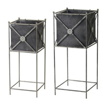 "More about the 'Planter (Set of 2) 11"" x 28""H, 13"" x 32""H Metal' product"