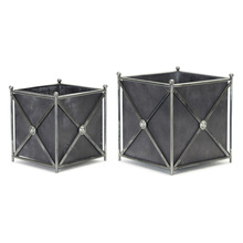 "More about the 'Planter (Set of 2) 9.75"" x 11""H, 12"" x 13""H Metal' product"