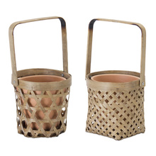 "More about the 'Basket/Pot Holder (Set of 6) 5""H Bamboo/Terra Cotta' product"