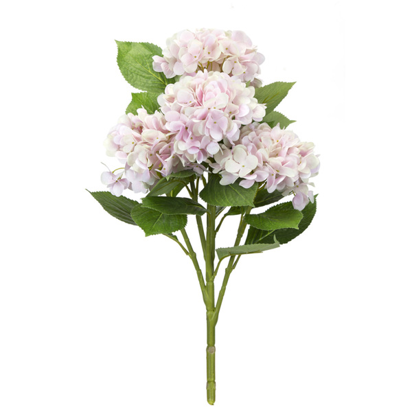 "Hydrangea Bush (Set of 6) 23""H Polyester - Pink, Green"
